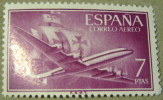 Spain 1955 Airplane And Caravel 7pta - Mint - 1931-Aujourd'hui: II. République - ....Juan Carlos I