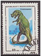 Madagascar 1994 Scott 1175 Sello * Animales Prehistoricos Ceratosaurus 40Fmg Malagasy Madagascar Stamps Timbre Briefmark - Madagascar (1960-...)