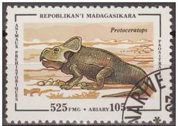 Madagascar 1994 Scott 1177 Sello * Animales Prehistoricos Protoceratops 525Fmg Malagasy Madagascar Stamps Timbre - Madagascar (1960-...)