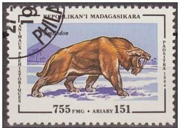 Madagascar 1994 Scott 1179 Sello * Animales Prehistoricos Smilodon 755Fmg Malagasy Madagascar Stamps Timbre Briefmarke - Madagascar (1960-...)