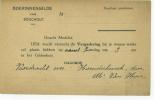 Boechout   :uitnodiging Voordracht Boerinnengilde 1929 - Boechout