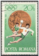 Rumania 1972 Scott 2382 Sello º Sports Juegos Olimpicos Munich Balonmano Olimpics Munchen Medalla Bronce Handball 20Bani - 1948-.... Repúblicas