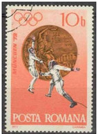 Rumania 1972 Scott 2381 Sello º Sports Juegos Olimpicos Munich Esgrima Olimpics Munchen Medalla Bronce Fencing 10Bani - 1948-.... Repúblicas