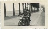 MOTO  ( Vieux Photo  Format  9  X 6 Cm ) - Motos