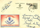 Entier PUBLIBEL 1238 CHARLEROI 1954 Vers CHIMAY - Griffe D'Origine RANCE  -- B9/040 - Stamped Stationery