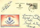 Entier PUBLIBEL 1238 CHARLEROI 1954 Vers CHIMAY - Griffe D'Origine RANCE  -- B9/040 - Publibels