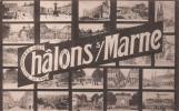 51 CHALONS SUR MARNE VUES MULTIPLES CIRCULEE 1914-15 - Châlons-sur-Marne