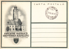 EXPOZITIA FILATELICA SIBIU 1938,EXHIBITION 1938 HERMANNSTADT LAST DAY POST CARD,RARE ROMANIA. - Universal Expositions