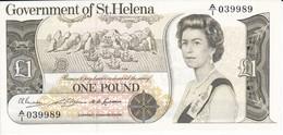 BILLETE DE LA ISLA SANTA HELENA DE 1 POUND DEL AÑO 1976  P-6a  NUEVO, SIN CIRCULAR  (BANKNOTE) - Isla Santa Helena