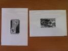 ANDORRE 1976 - GRAVURE GRAVURES EPREUVES PHOTOS JEUX OLYMPIQUES Et TELEPHONE N°251 Et 252 SUR PAPIER AGFA