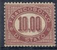 1875 REGNO SERVIZIO DI STATO 10 LIRE LUSSO  MH * DIENA - RR10178 - Servizi