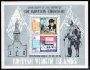 British Virgin Islands MNH Scott #279a Souvenir Sheet Sir Winston Churchill Birth Centenary - Iles Vièrges Britanniques