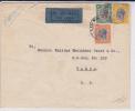 TANGANYIKA - 1933 - ENVELOPPE Par AVION De DAR ES SALAAM Pour TANGA - TRICOLORE - Kenya, Uganda & Tanganyika