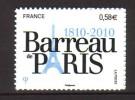 2010 France Neuf ** Autoadhésif N° 508 Barreau De Paris - Adhesive Stamps