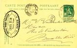 Entier Postal Pellens RONSE 1914 Vers BXL - Cachet Privé Grand Bazar Parisien Louis Diou  - B9/012 - Entiers Postaux