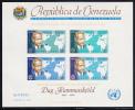 Venezuela MNH Scott #C837a Souvenir Sheet Of 4 Imperf Dag Hammarskjold - Venezuela