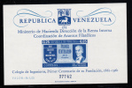 Venezuela MNH Scott #801a Souvenir Sheet Imperf 25c Centenary Of Founding Of Engineering Society Of Venezuela - Venezuela