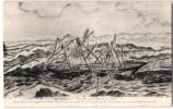 4 CPA : QUIBERON LE TROIS-MATS CARL-BECK 25 MARINS PERDU SUR LES ROCHERS BEC-EN-VILL TEMPETE DU 21 DECEMBRE 1911 VOILIER - Quiberon