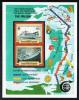 British Virgin Islands MNH Scott #557 Souvenir Sheet Of 2 80c Recorder, Pacific Guardian - Cable-Laying Ships - Iles Vièrges Britanniques