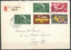 1949 - TRES BELLE LETTRE RECOMMANDEEavec TRES BEL AFFRANCHISSEMENT - Suisse