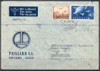 1949 - TRES BELLE LETTRE PAR AVION Avec TRES BEL AFFRANCHISSEMENT - ENVELOPPE DE PAILLARD S.A. - Suisse