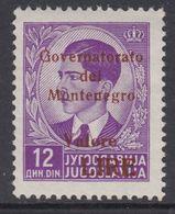 ITALIA OCC. MONTENEGRO - ITAL. BESETZUNG - N. 58 -  Cv 75 Euro - GOMMA INTEGRA -MNH** -LUXUS POSTFRISCH - 9. Besetzung 2. WK (Italien)