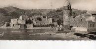 COLLIOURE (Plage Eglise, Château Templiers-Cpsm Format Panoramique = 22 X 9 Cms) Voir Description - Collioure