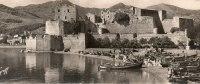 COLLIOURE- Le Château Des Templiers (bateaux) (Cpsm Format Panoramique = 22 X 9 Cms) Voir Description*PRIX FIXE - Collioure