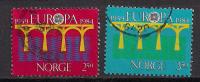 Norwegen  (1984)  Mi.Nr.  904 + 905  Gest. / Used (M11)  EUROPA - Norwegen