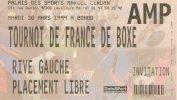 TOURNOI DE FRANCE DE BOXE ( Palais De Sports Marcel Cerdan 1999 ) - Boxe