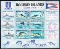 British Virgin Islands MNH Scott #248a Souvenir Sheet Of 6 Wahoo, Blue & White Marlins, Allison Tuna, Sailfish, Dolphin - Iles Vièrges Britanniques