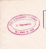 Issoire Puy De Dome École D'Enseignement Technique De L'Armée De Terre Franchise Militaire Le Vaguemestre 1968 - Militaria
