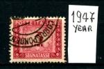 ITALIA  REPUBBLICA -SEGNATASSE - 1947 Year - 3 Lire - Usato - Used - 6. 1946-.. Repubblica