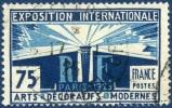 215  Exposition Des Arts Décoratifs 75c Bleu Foncé Et Bleu Oblitéré 117 1924 FS - France