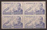 ES944-A570TSC.Spain Espagne.INGENIERO. JUAN DE LA CIERVA .AUTOGIRO.1941/7. (944**BL4) Sin Charnela MUY BONITO - Sin Clasificación