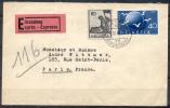 1949 - TRES BELLE LETTRE EXPRES Avec TRES BEL AFFRANCHISSEMENT - Suisse