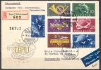 1949 - SUPERBE LETTRE RECOMMANDEE PAR AVION Avec TRES BEL AFFRANCHISSEMENT - PREMIER VOL - 2 SERIES COMPLETES - Suisse