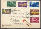 1949 - SUPERBE LETTRE RECOMMANDEE Avec TRES BEL AFFRANCHISSEMENT - 2 SERIES COMPLETES - Suisse