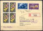 1949 - BELLE  LETTRE RECOMMANDEE Avec TRES BEL AFFRANCHISSEMENT - Suisse