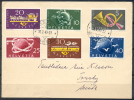 1949 - SUPERBE  LETTRE Avec TRES BEL AFFRANCHISSEMENT - 2 SERIES COMPLETES - PREMIER JOUR D'EMISSION - Suisse