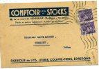 Carte De Commande Du Comptois De Stocks Fabrique Lits Literie A Bordeaux Adressé A Mr Martin Gants A Chamaret - Marchands