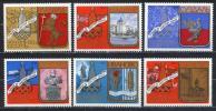 Rusia 1977 Mi. 4686-4691 , Yvert 44346-4451, Scott # B107-B112 MNH - 1923-1991 USSR