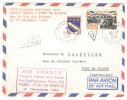 VEND N° 1353+1429 SUR LETTRE,1°LIAISON AERIENNE SANS ESCALE PARIS-FORT DE FRANCE,AIR FRANCE,16.12.1964,TAXEE !!!! - Storia Postale