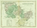 """C1845 Map Of """"Denbighshire"""" By ´J Archer´. - Topographical Maps"""