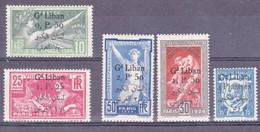 GRAND LIBAN - YVERT N° 45/49 * - COTE = 163 EUR. - JEUX OLYMPIQUES - Grand Liban (1924-1945)