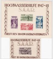 SAAR / SARRE - BLOC YVERT N° 1/2 ** - COTE = 1500 EUR. - - Blocs-feuillets