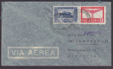 Argentina Airmail Via Aerea AEROPOSTAL 1948? Cover To HAMBURG Alemania Germany HAMBURG Gothic Purple Line Cancel !! - Posta Aerea