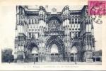10 TROYES LA CATHEDRALE LES 3 PORTES EN FACADE 1935 - Troyes