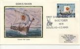 IOM FDC - 1979 ODIN´S RAVEN SILK COVER - Isola Di Man