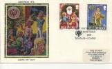 IOM FDC - 1979 CHRISTMAS SILK COVER - Isola Di Man